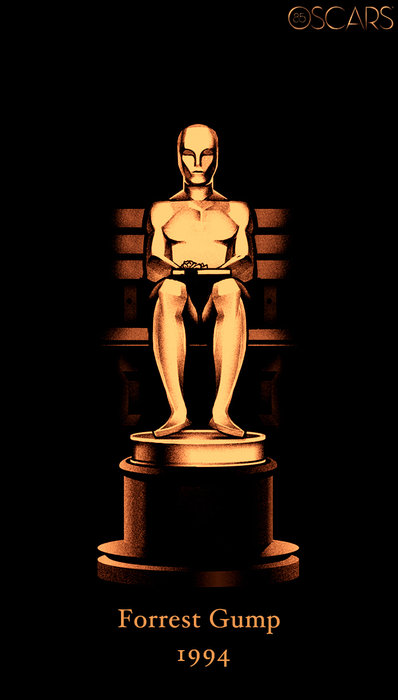 Oscars 85 Years Poster - Forrest Gump