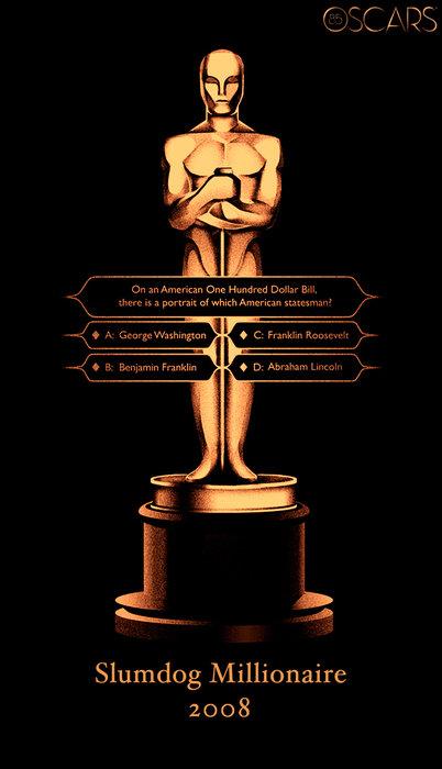 Oscars 85 Years Poster - Slumdog Millionaire