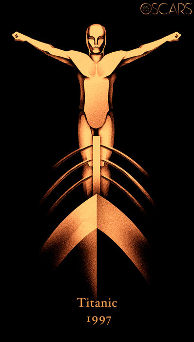 Oscars 85 Years Poster - Titanic
